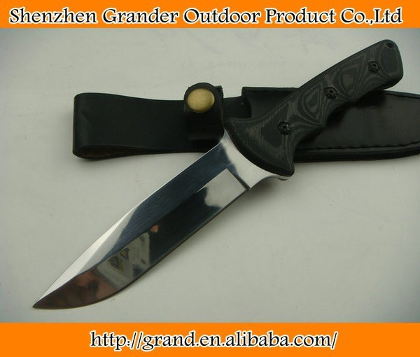 8Cr17 57HRC mirror stainless steel blade micarta handle bowie knife fixed blade knife tool hand 0234