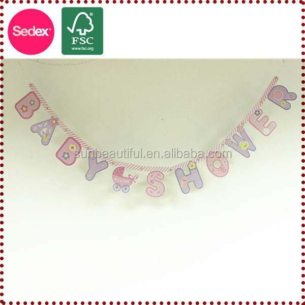 New product 2014 baby birth banner crafts as gifts