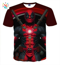 Custom Summer Casual Tops Tee Shirts 3d Anime Print Pokemon Deadpool T Shirt Funny Graphic T-shirts