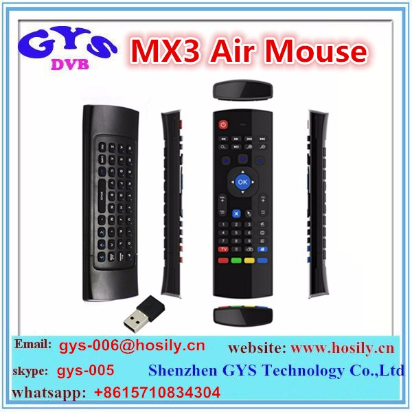 2016 Newest 2.4G MX3 C120 Air Fly Mouse full keyboard,Kodi Air Fly Mouse,Kodi Remote Control for TV box