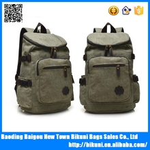 Daypack Travel Army Green Color College Book Backpack Canvas backpack