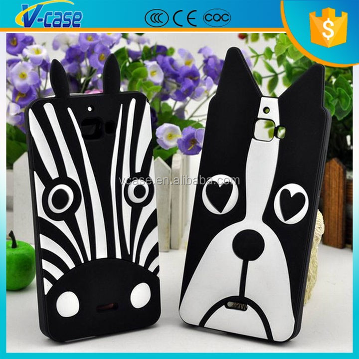 3D designed silicone case For iphone 6 , cute cartoon animal cover case for iphone 6 plus