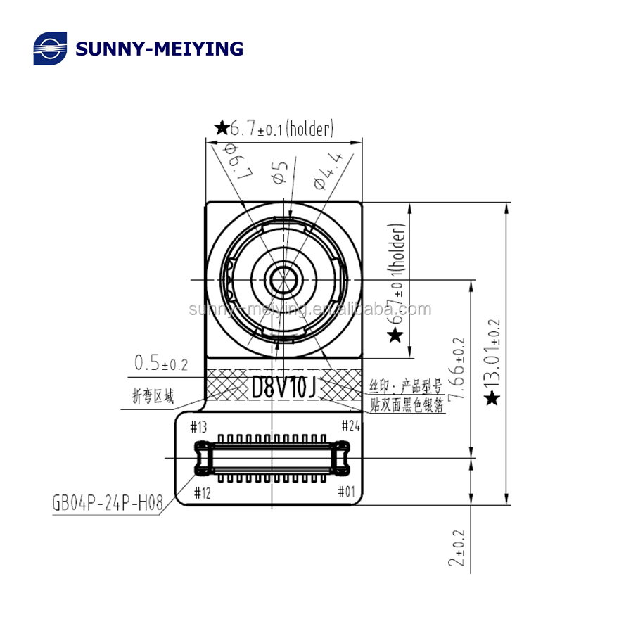 Factory direct sale OV8856 cmos camera <strong>module</strong> wide FOV 8mp MIPI camera <strong>module</strong> Sunny factory D8V10J fixed focus camera moudle