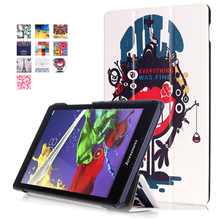 light weight Stand Leather Cover Case For Lenovo A5500 A8-50 8 inch tablet pc