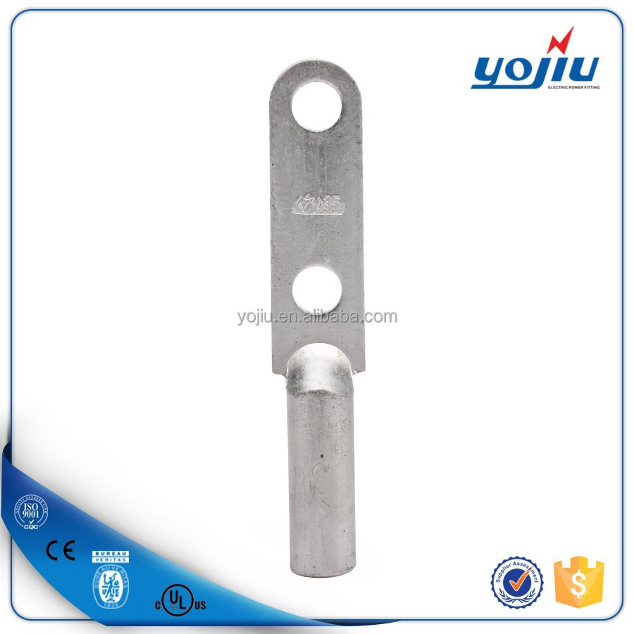 Yojiu new products DLD series electric round termination lug for two bolts/Aluminium cable lug