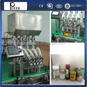 Piston pump type jam filling capping labeling machine