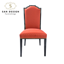 Hotel banquet wedding fabric covered dining chair with wood legs