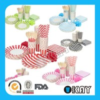 Drinkware Type and Paper Material Party paper tableware