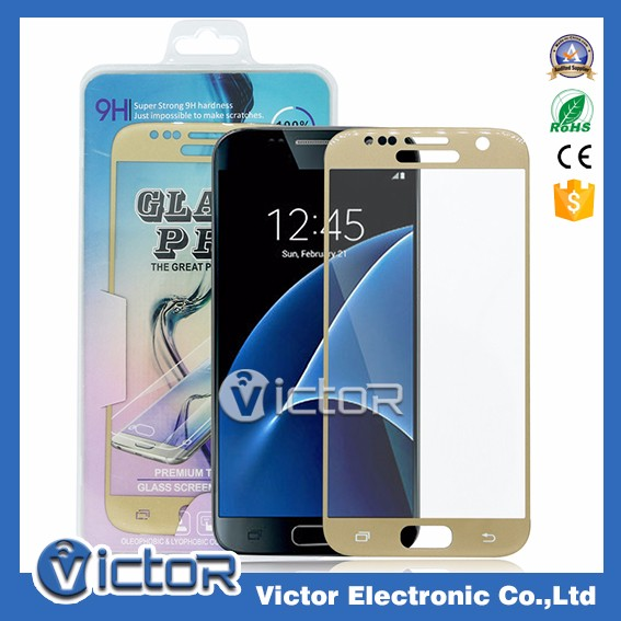 For Samsung S7 Mobile Accessories 9H 3D Full Protective Curve Tempered Glass Screen Protector