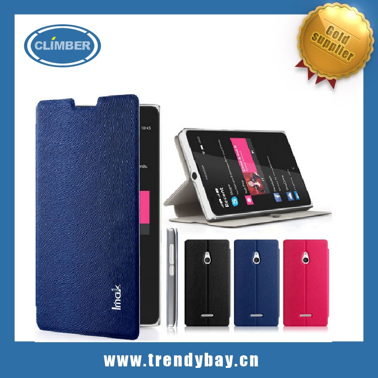 Imak brand flip leather case cover for Nokia XL