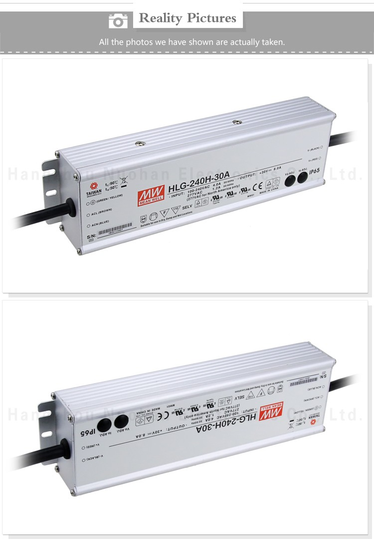 Meanwell 240W 30V Single Output LED driver/30V Switching Power Supply/30v waterproof power supply