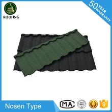 Hot selling Nosen aluminium roof tile,stone coated roof tile for wholesales