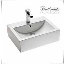 BATHROOM SQUARE COUNTERTOP CERAMIC SINK