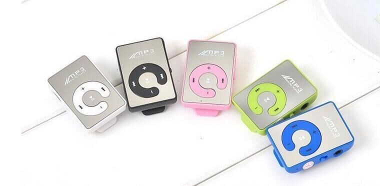 2016 Mini Clip Portable MP3 Music Media Player with 4GB capacity/TF+USB data line+earphone sport mp3 player