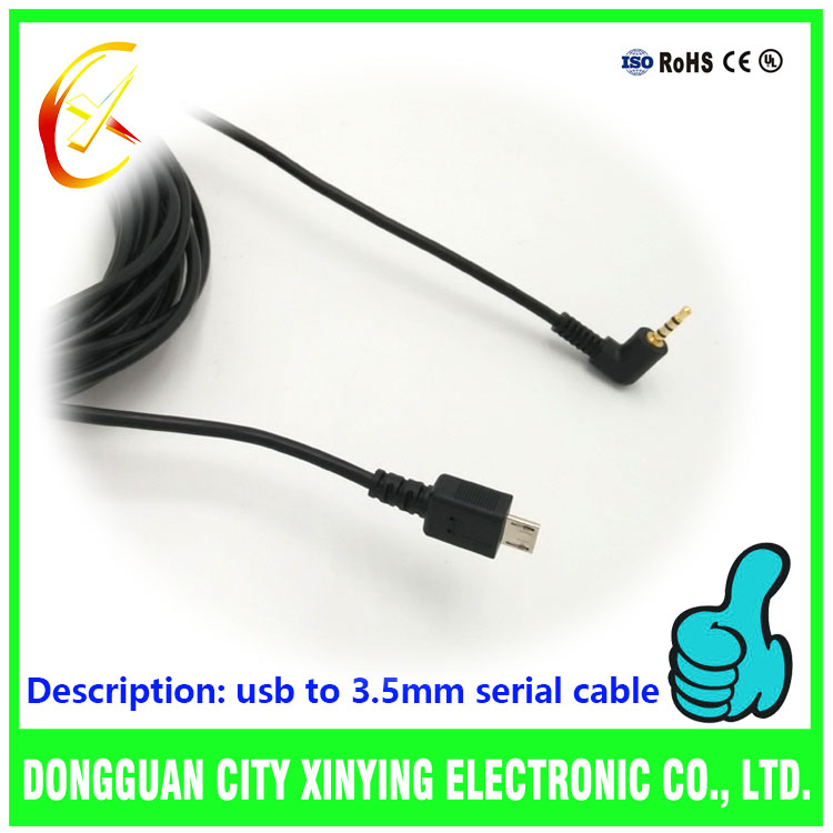china supplier OEM micro usb to 2.5mm jack aux cable
