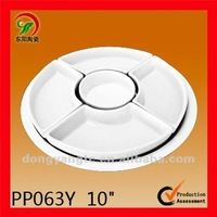 6Pcs Round plain white porcelain dinnerware