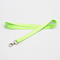 Custom ID card holder silk screen print nylon keychain holder lanyard