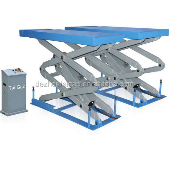 High quality in ground hydraulic scissor car lift for car repair shop
