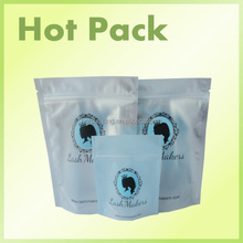 custom logo zip pouch with carabiner cheese stand up zipper packaging