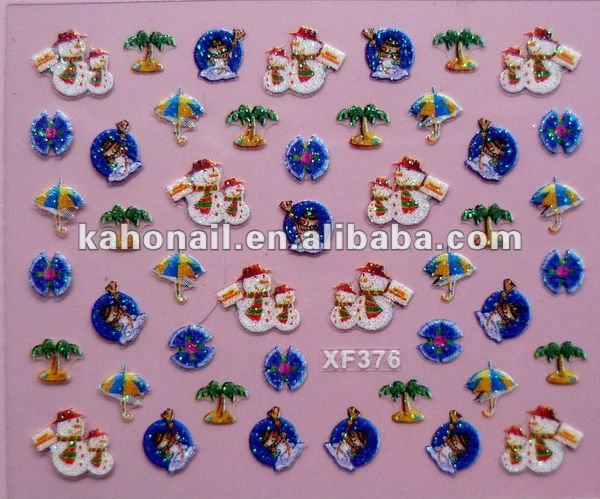 Kaho factory promotion 3d bows for nails,3d nail sticker