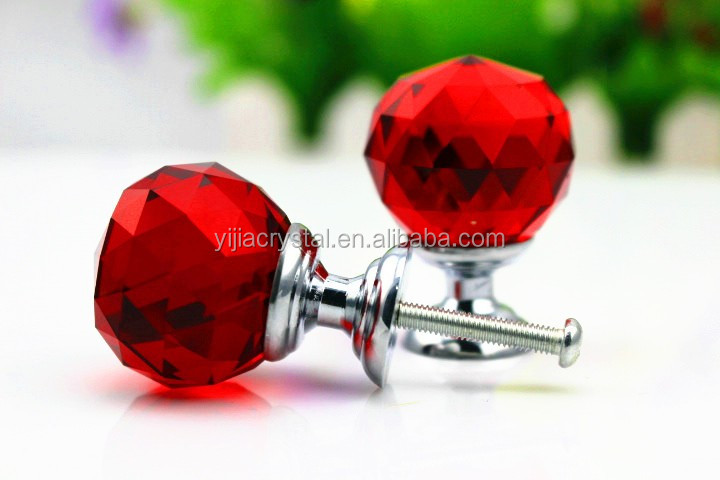 Cheap price different colors crystal knobs/Crystal Furniture Kitchen Cabinet Handles for hot selling/Pull Glass Handles