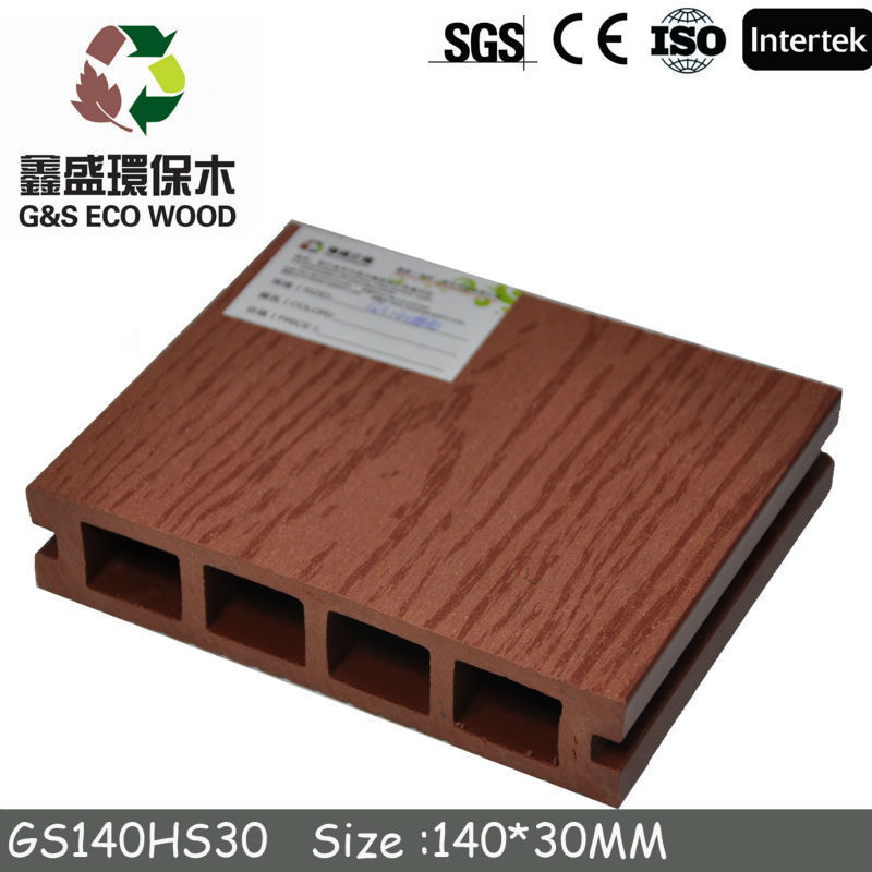 2014 High quality and water-resistant WPC decking/China WPC decking