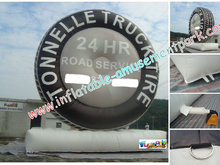 Advertising 9m inflatable tyre with printing,customized tire model with PVC tarpaulin