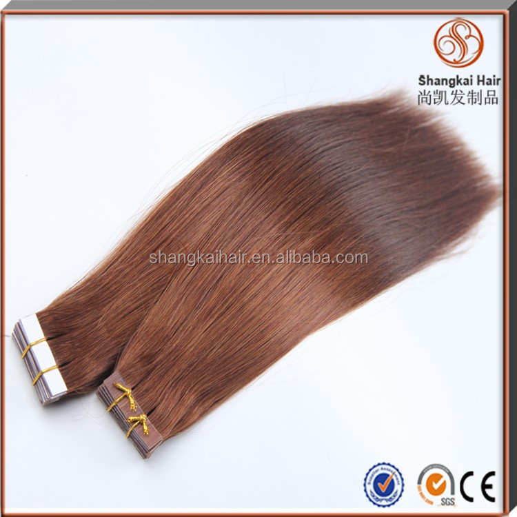 Double Drawn Virgin Remy Hair Extention 2.5g Tape In Hair Extensions