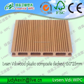 wood plastic composite WPC decking flooring from Qingdao