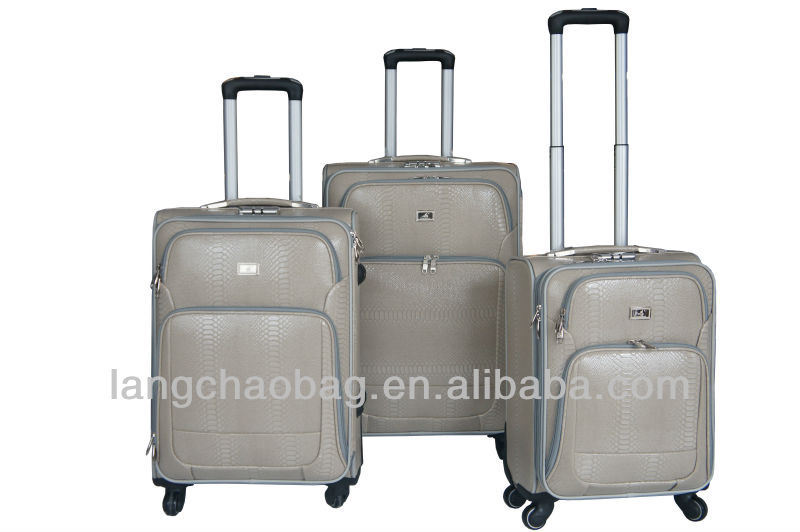factory price 4 pcs/set polo trolley luggage