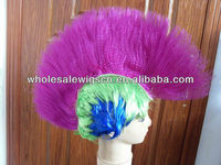 Indian Style Punk Football Fan Wig/Crazy Color Wigs/Festival Wig