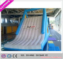 ECO-friendly inflatable water pool slide type toy, indoor pool equipment, inflatable unique water slide