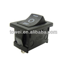 High quality latest three poles rocker switch six colors