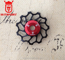 11Tooth MTB Ceramic Bearing Jockey Wheel Pulley Road Bicycle Bike Derailleur Aluminium Jockey wheel for SHIMANO and SRAM
