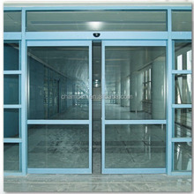 HD002 dual motor automatic sensor glass sliding door for hospital and commercial