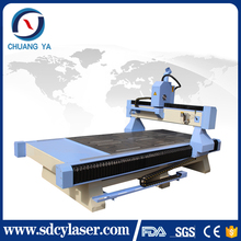 CY-M1325 pneumatic three heads wood cnc routers for furniture making