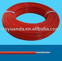 high temperature silicone rubber insulated and fiberglass braided cable / wire