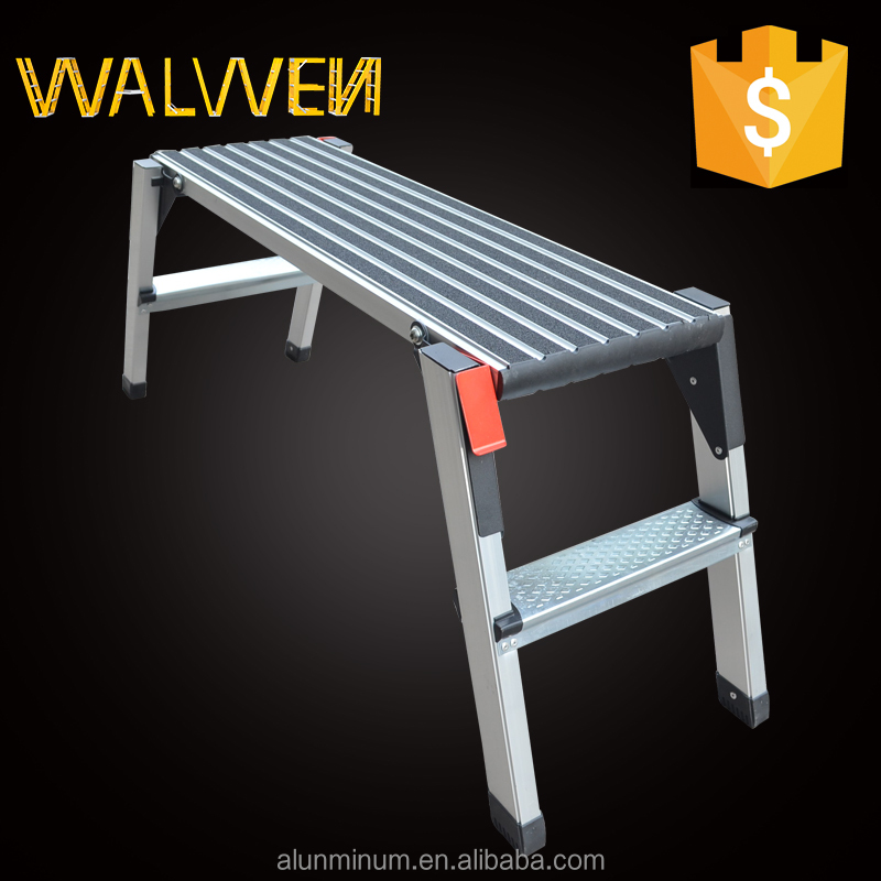 Washing car stool work platform aluminum folding adjustable platform ladder