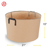 Tan color 3 Gallons Heavy Duty Thickened Nonwoven Fabric Pots Grow Bags with Strap Handles