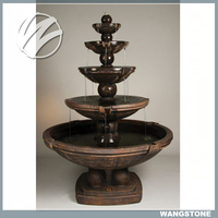 Indoor Decoration Delicate Brass Water Fountain Sculpture