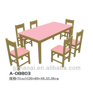 A-08803 Colorful Funny Wholesale Kids Furniture Study Table And Chairs