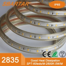 high voltage 50m/roll EU plug SMD2835 60led RGB IP67 led strip light solar light led