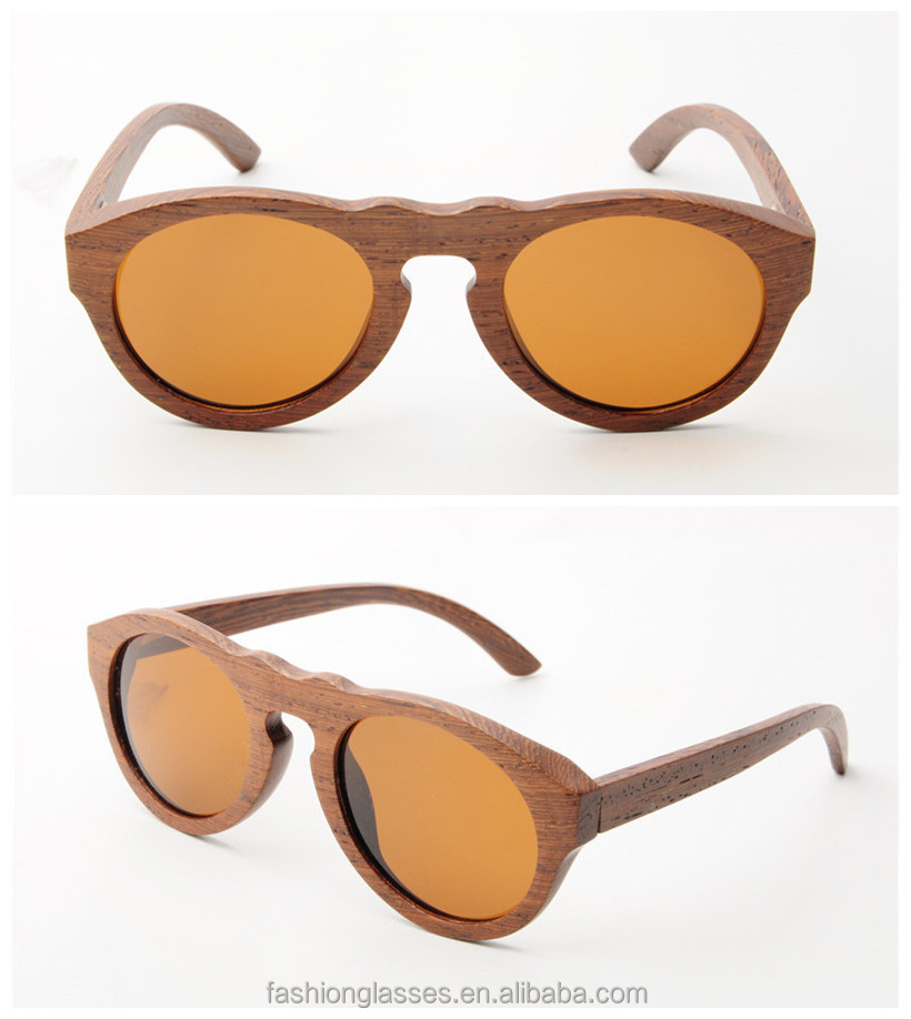 Fashion design wood sunglasses made of natural wood,handmade in high quality level,can do factory price and low QTY GA014-2