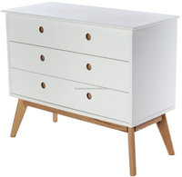 scaninavian MDF 3 drawers cabinet with solid oak legs