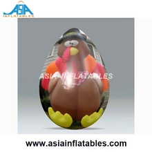 Customize Turkey Printing Inflatable Easter Egg Balloon for Festival Decoration