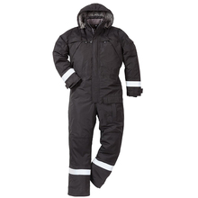 Cotton Padded Cold Resistant Waterproof Winter Coveralls With Hood