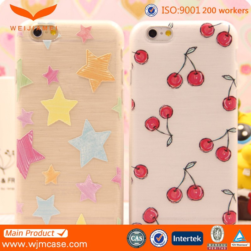 High Quality TPU Cover For iPhone 6s Candy Color Sweet Feel