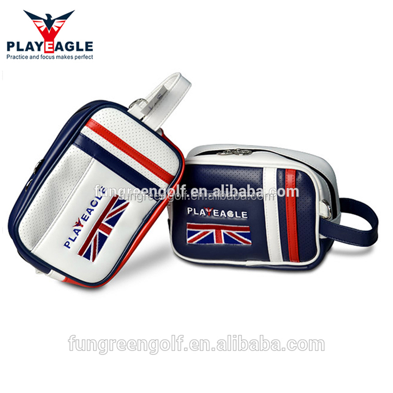 2018 New PU Leather Golf Handbag Portable Mini Golf Pouch Factory OEM Golf Accessories Bag