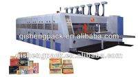 Automatic flexo 4 colors printing and slotting and rotary die cutting machine