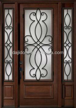 Wrought Iron Safety Wooden Door Designs Dj S9103mwst Buy